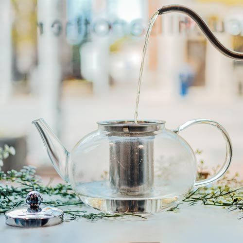 GROSCHE joliette glass teapot with stainless steel infuser hot water