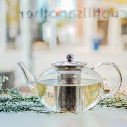 GROSCHE joliette glass teapot with stainless steel infuser steeping tea