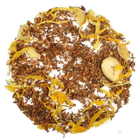 bourbon street vanilla rooibos tea loose leaf tea with almonds