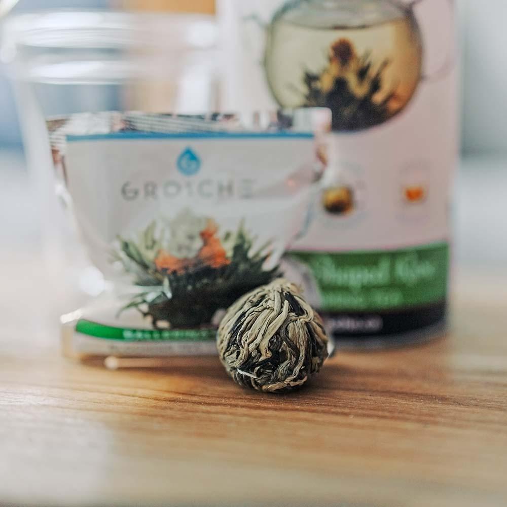 jasmine infused blooming tea ball individual flowering tea variety pack
