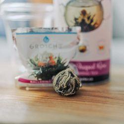rose infused blooming tea ball individual flowering tea variety pack
