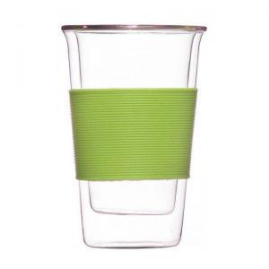 glassen double walled tumbler green