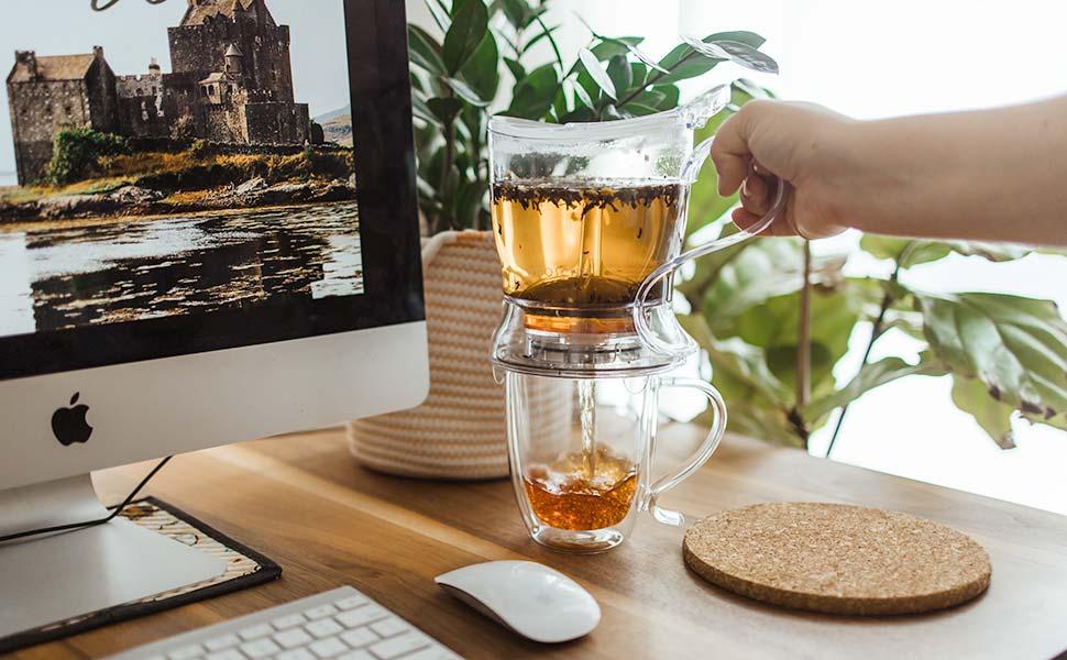 easy tea steeper, tea maker, personal teapot, loose leaf tea steeper, infuser teapot for loose leaf tea