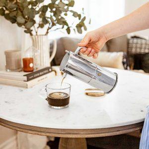 GROSCHE milano stella aroma milano stainless steel moka pot stovetop espresso maker moka coffee maker