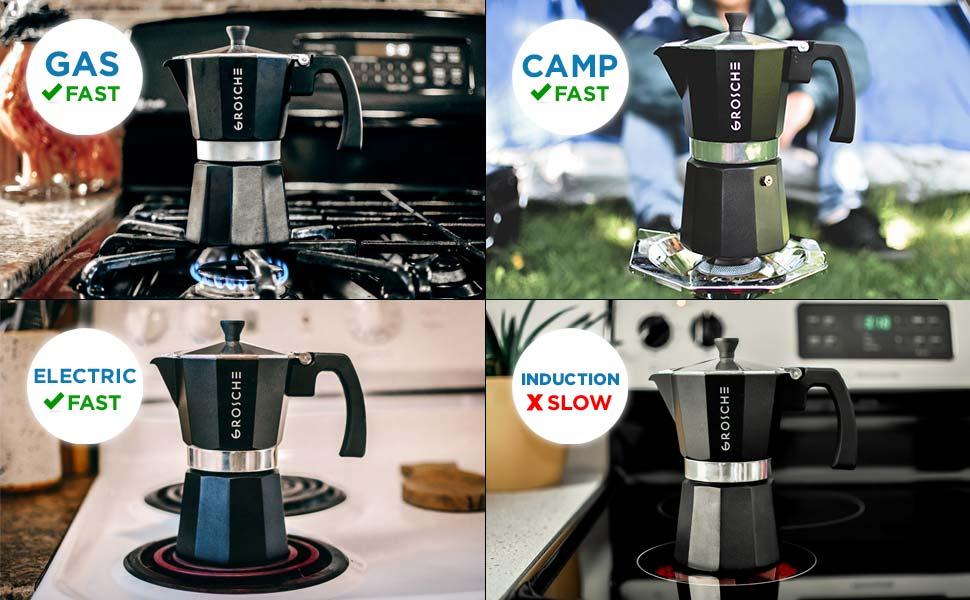 milano black stovetop espresso maker