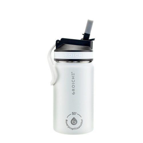 kids water bottle, kids water flask, water bottle for kids white, sip lid water bottle, 12 oz flask