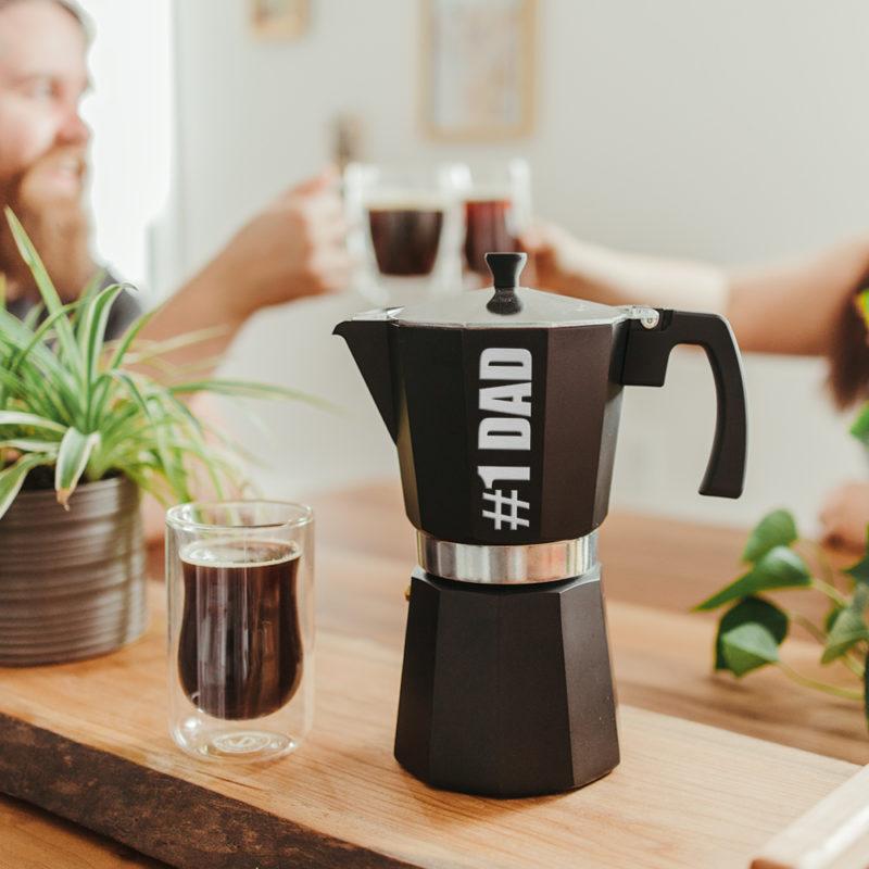 #1 Dad Custom Father's Day Gift Milano Stovetop Espresso Maker
