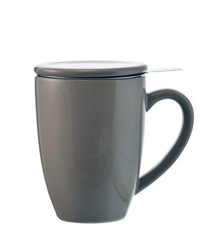GROSCHE KASSEL Tea infuser Mug Grey With Stainless Steel Infuser in Grey