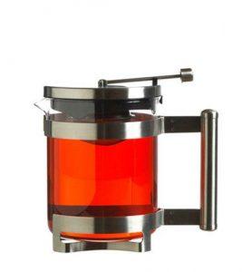 GROSCHE BARCELONA Tea Steeper Pot Side view with tea