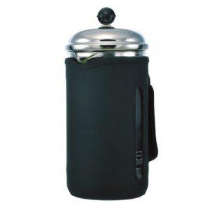 GROSCHE FINO Insulated Coffee and Tea Press | side view with neoprene sleeve