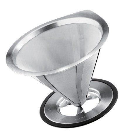 GROSCHE ULTRAMESH Stainless Steel Reusable Coffee Filter | Top view