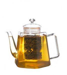 GROSCHE VIENNA Hexagon-Shaped Glass Teapot with Strainer