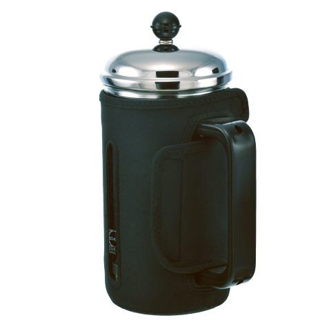 GROSCHE FINO Insulated Coffee and Tea Press | side view with neoprene sleeve