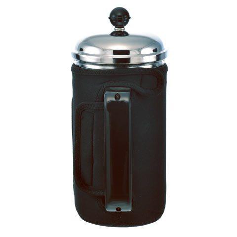 GROSCHE FINO Insulated Coffee and Tea Press | back view with neoprene sleeve