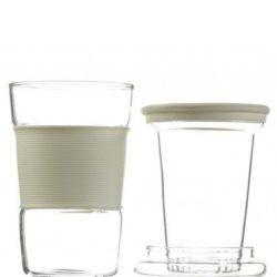 GROSCHE INFUZ Tea Mug With Glass Infuser in Red