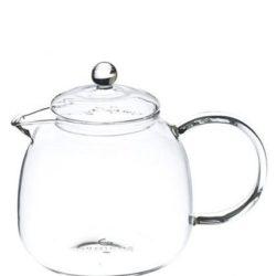 borosilicate glass teapot with infuser, infusion teapot with matching glass infuser, classy glass tea maker, infusion glass teapot for loose leaf tea, GROSCHE munich