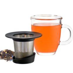 GROSCHE ASPEN Glass Tea Mug With Stainless Steel Infuser