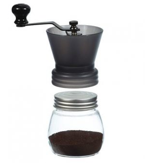 GROSCHE BREMEN Ceramic Burr Coffee Grinder Black