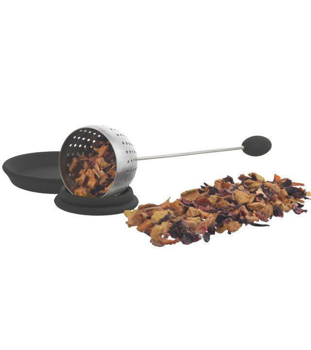 GROSCHE TULIP Personal Loose-Leaf Tea Infuser in Black