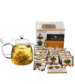teapot and blooming tea