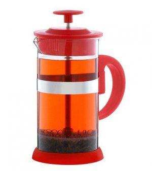 GROSCHE ZURICH Everyday Coffee Press | Red side view with tea