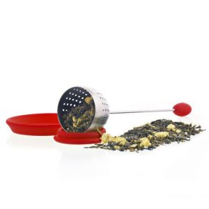 GROSCHE TULIP Personal Loose-Leaf Tea Infuser in Red