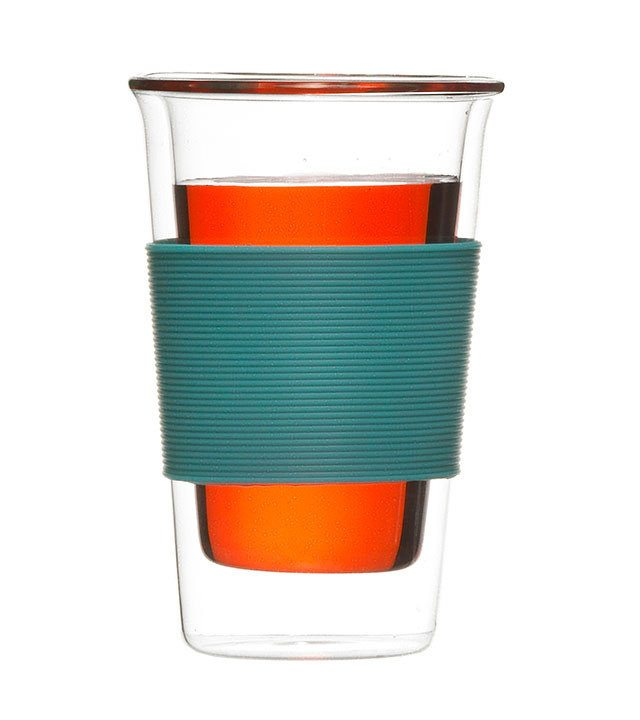 GROSCHE GLASSEN Coffee and tea tumbler blue
