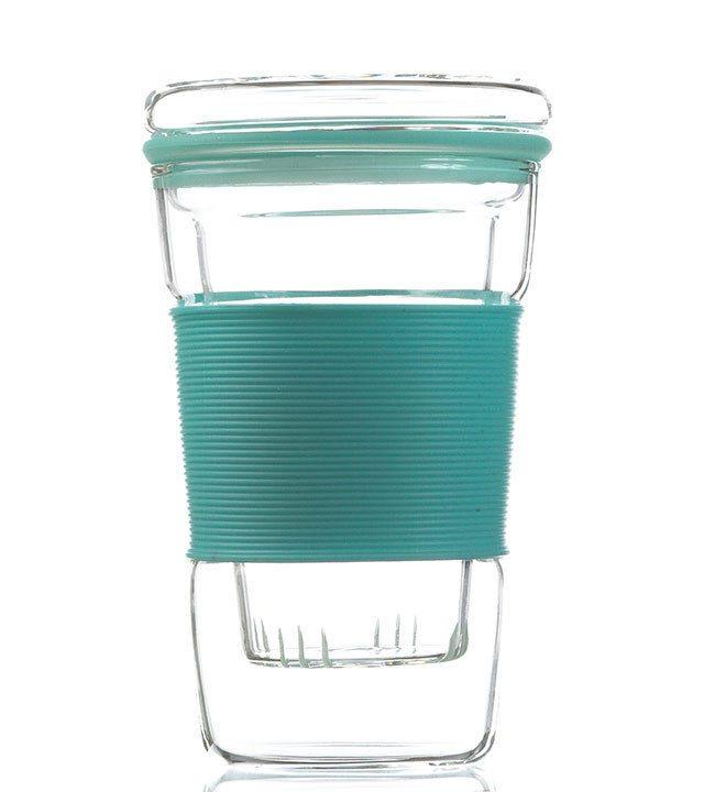 GROSCHE INFUZ Tea Mug With Glass Infuser in Blue