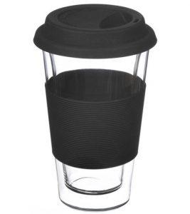 GROSCHE GLASSEN travel mug black