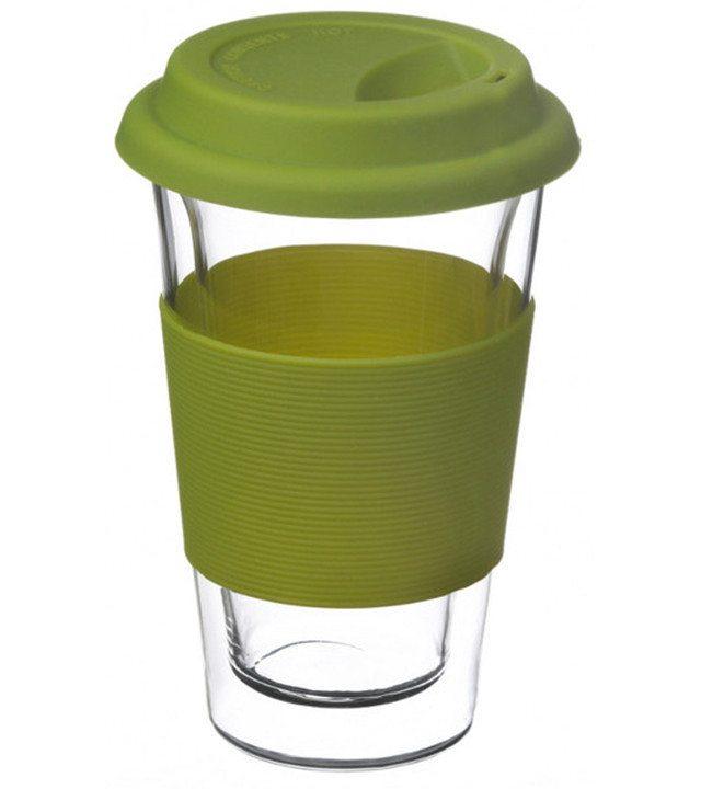 GROSCHE GLASSEN Travel Mug Green